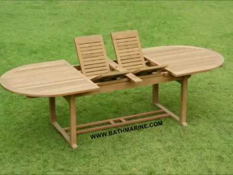 BATHMARINE.COM Mesas de TEKA Muebles TEKA Jardin Tumbonas Sillas Terraza Extensibles Exterior madera baratas conjunto set hamacas