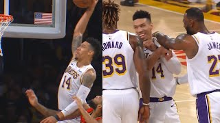 Danny Green Shocks Teammates After His Epic Dunk | Lakers vs Hawks