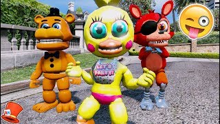 BRAND NEW CHICA ANIMATRONIC IS HERE! ADVENTURE TOY CHICA! (GTA 5 Mods For Kids FNAF RedHatter)