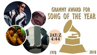 Grammy Award for: Song of the Year (1978-2018)