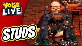 LEGO STUDS: JURASSIC PARK & STRANGER THINGS BUILD w/ Simon & Nina! - 02/09/19