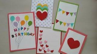 5 Cute & Easy Greeting cards | Srushti Patil