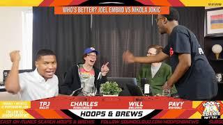 Who's Better? Joel Embiid vs Nikola Jokic Episode 165 Preview (Clip) | Hoops N Brews