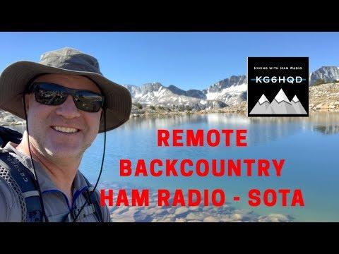 Remote Backcountry Ham Radio SOTA Activation - Pilot Knob
