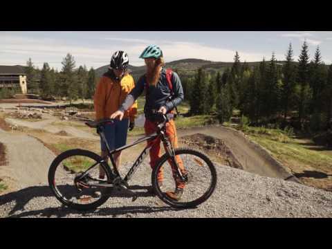 Terrengskolen for nybegynnere - oppsett sykkel