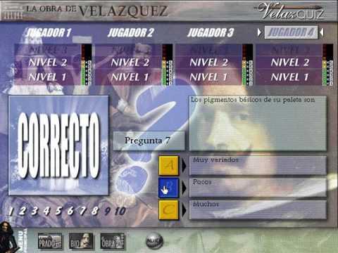 El Museo Virtual: La Obra de Velázquez (VelazQUIZ) (Dinamic) (Windows 3.x) [1996]