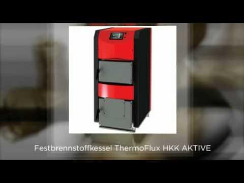 Scheitholzkessel ThermoFlux HKK Active 30 kW mit Anschlusspaket