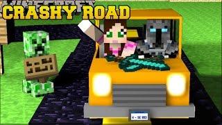 Minecraft: CRASHY ROAD! (GRAND THEFT AUTO CAR ESCAPE!) Mini-Game