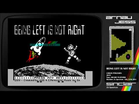 BEING LEFT IS NOT RIGHT Zx Spectrum