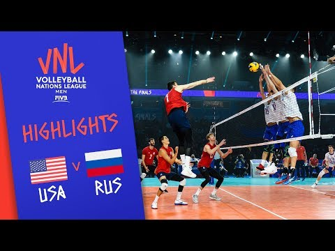 USA vs. RUSSIA - Highlights Men | FINAL | FIVB Volleyball Nations League 2019