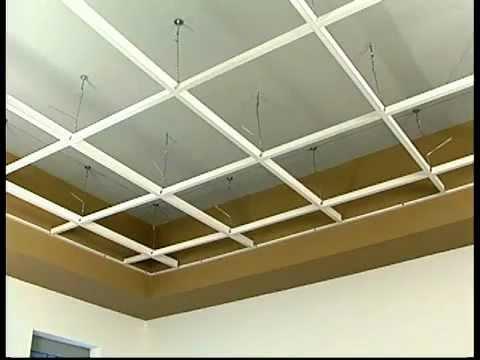 Hg Grid Vinyl Suspended Ceiling Grid Installation Youtube