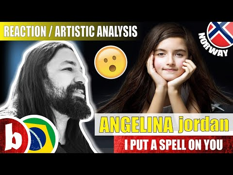ANGELINA JORDAN! I Put a Spell on You - Reaction Reação & Artistic Analysis (SUBS)