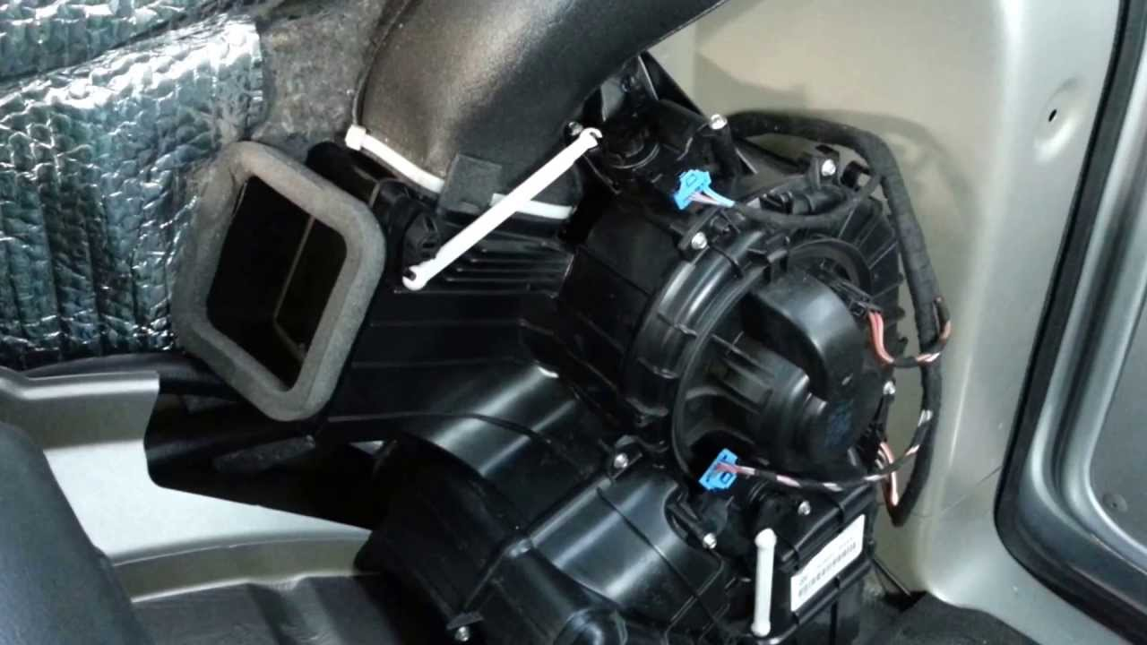 Vw T5 Rear Heater Actuator Controls Youtube