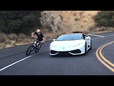 Lamborghini Huracan vs HPC Revolution E-Bike Canyon Run