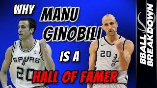 Why MANU GINOBILI Is A First Ballot Hall Of Famer