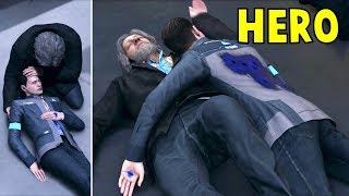 Connor Saves Hank vs Connor Left for Death - Detroit Become Human HD PS4 Pro - YouTube