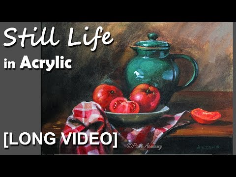 Realistic Still Life in Acrylic | step by step Painting-  Episode-4