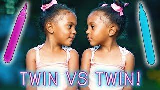 ULTIMATE 3 MARKER CHALLENGE! TWIN vs TWIN!
