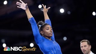 Simone Biles podium training triple double - World Championships | NBC Sports