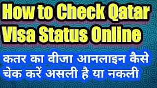 How to check Qatar visa online in Hindi Urdu  Check Qatar