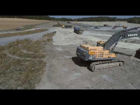 Züblin Scandinavia: Trafikplats Lovö, drone flight