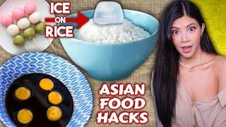 I tried WEIRD Asian Food Hack TikToks 🍙