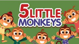 NURSERY RHYMES & SONGS FOR CHILDREN➡🎊 Five little Monkeys Jumping on the bed song for KIDS