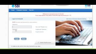 SBI Online Banking  Internet Banking First Time Login in