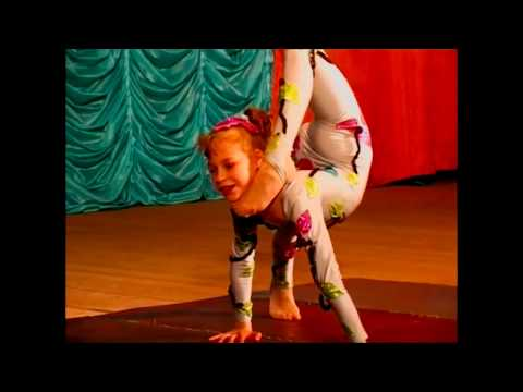 The same contortion girl Nastya in 11 and 17 years old