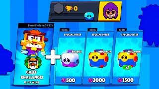 0 TROPHY Account in FREE GRIFF CHALLENGE + Box Opening - Brawl Stars