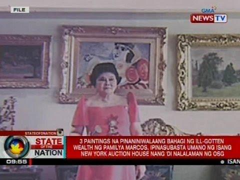 3 paintings na bahagi diumano ng ill-gotten wealth, ipinasubasta raw nang 'di nalalaman ng OSG