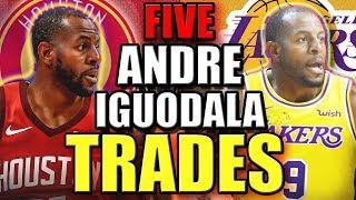 5 Andre Iguodala TRADE Scenarios - Joining James Harden & Russell Westbrook on Houston Rockets?
