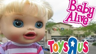 BABY ALIVE Toys R Us HAUL & Outing With Audrey For The First Time!