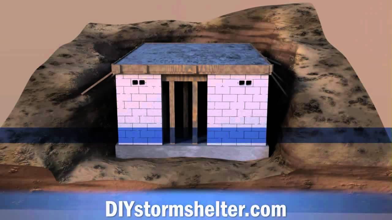 Concrete Block Diy Storm Shelter 12x20 Foot Youtube