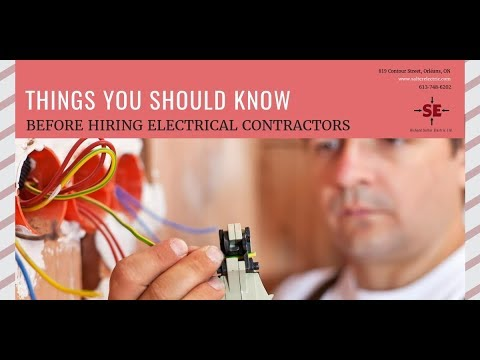 Things You Should Know Before Hiring Electrical Contractors