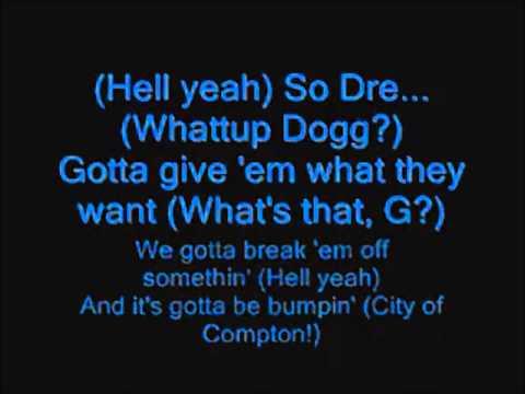 Snoop Dogg Ft. Dr. Dre - G Thang Lyrics