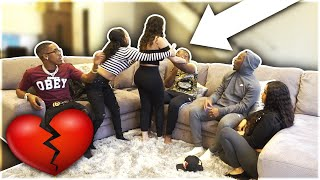 BREAKING UP WITH GIRLFRIEND PRANK IN FRONT OF