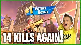 Tilted Landing 14 Kills Victory Royale!