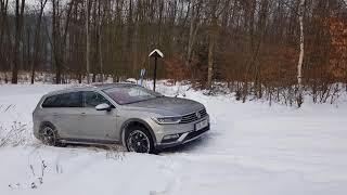 volkswagen passat alltrack 2.0 BITDI (240hp) 4motion snow test