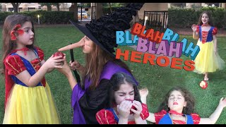 Snow white apple fairytale Princess Disney cartoon Superhero Transformation Fun girls - Blah Heroes