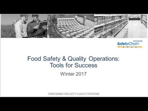 Food Safety & Quality Operations: Tools For Success