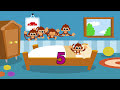 5 little Monkeys jumping on the bed nursery rhyme  -- Morphles Nursery Rhymes