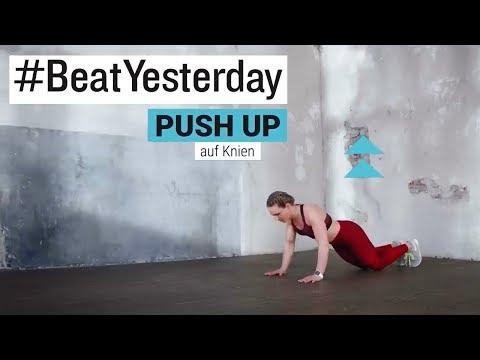 #BeatYesterday Workout Tutorial: Pushups /Liegestütze