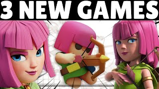 3 NEW Supercell CLASH Games! | EVERYTHING you need to know!