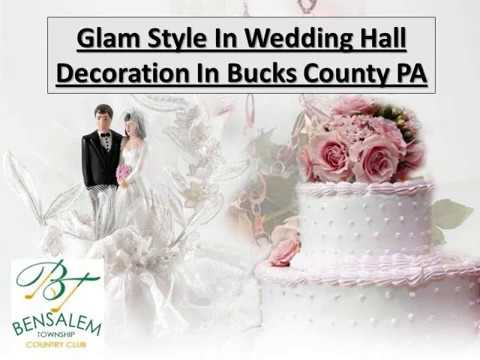Glam Style In Wedding Hall Decoration