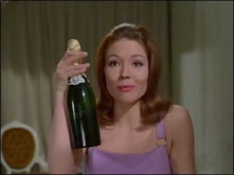 Youtube video showing Mrs Peel discovering another box of chocolates, this time full and she discovers Steed's greatest fear - a lack of champagne!