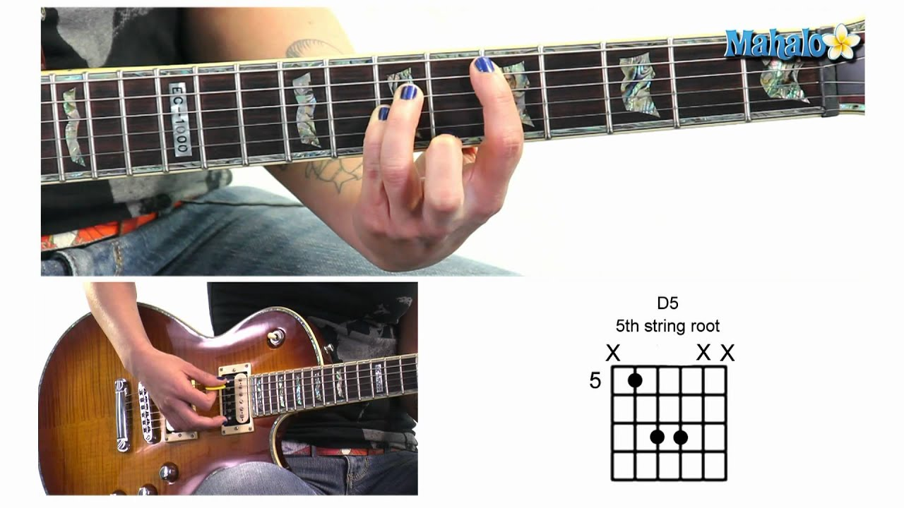 how to play d5 power chord in 5th position and 5th string root on guitar youtube. Black Bedroom Furniture Sets. Home Design Ideas