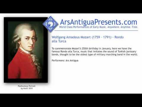 Wolfgang Amadeus Mozart (1759 -- 1791) -- Rondo alla Turca