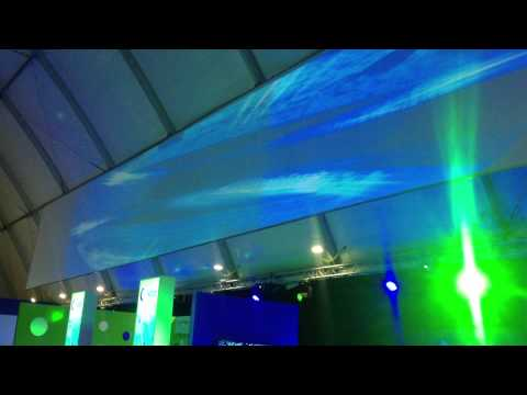 Large scale projection using AdVis' Edge Blending and Geometric Correction Technology