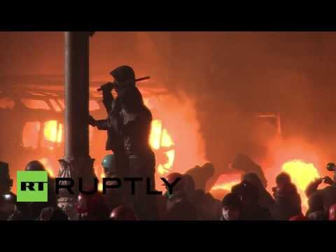Dynamo Kyiv stadium set aflame by protesters in Kiev